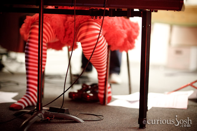 You know it's a burner event when the piano player has a tutu and striped stockings